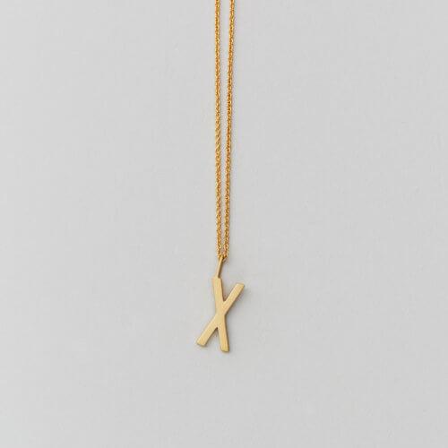 Design Letters – Kette mit Buchstabe X (16 mm)