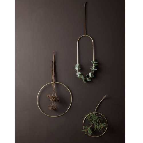 ferm LIVING – Dekoration Ringe Messing – 3er Set