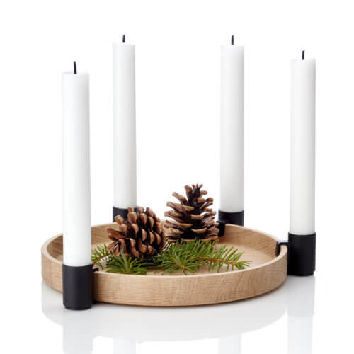 applicata – Kerzenständer Luna Eiche Schwarz