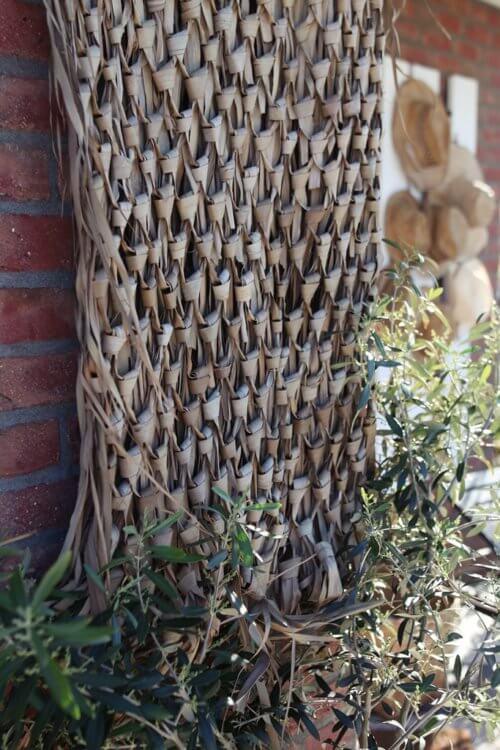 2er Set Korb zum Hängen – Palmenblätter