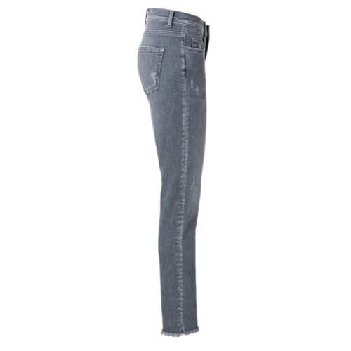 YAYA – Enge Denim-Jeans – Blaugrau