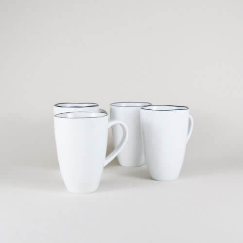 Broste Copenhagen – 4er Set SALT Tasse mit Henkel