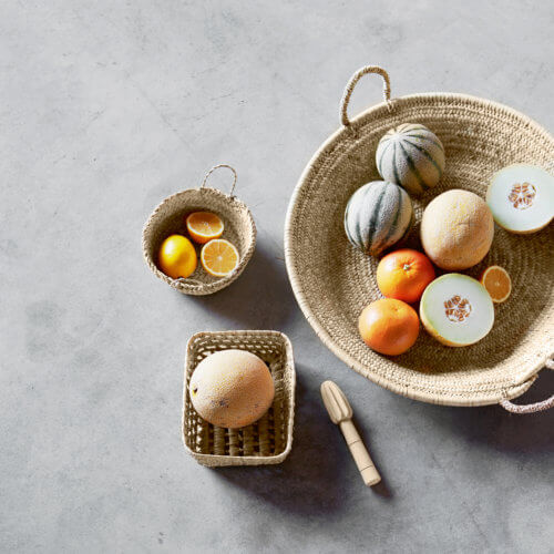 Tine K Home – Korb Small Palmenblätter mit Henkeln