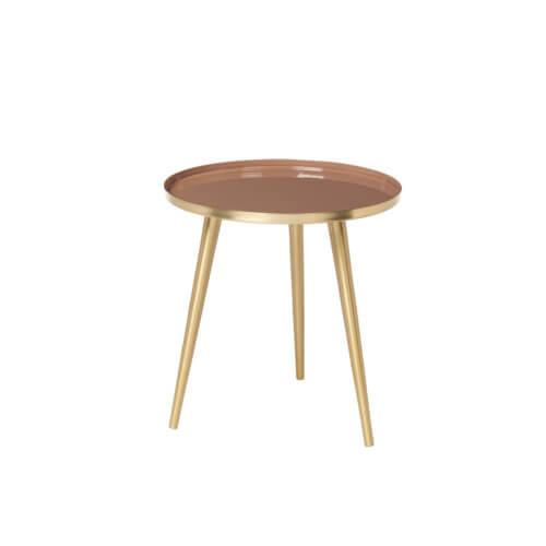 Broste Copenhagen Tisch Jelva S Indian Tan Top – Maße ca. Ø 35 x H 37 cm