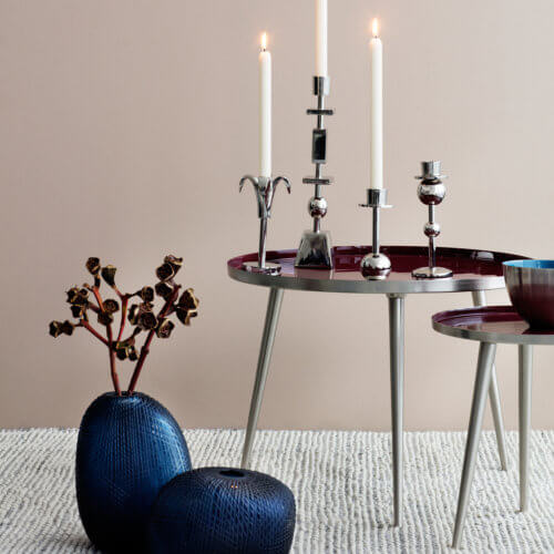 Broste Copenhagen Tisch JELVA S Smoked Pearl – Maße ca. Ø 35 x H 37 cm