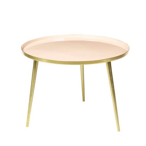 Broste Copenhagen Tisch JELVA M Helles Apricot Messing – Maße ca. Ø 57 x H 42 cm