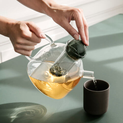 ferm LIVING Glas Teekanne