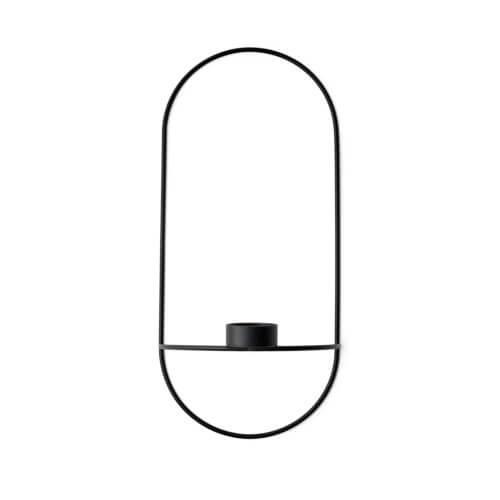 MENU – POV Teelichthalter Oval – Schwarz