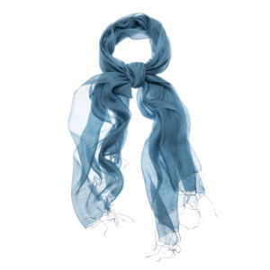 YAYA – Klassischer Schal aus Seiden-Mix – Blau