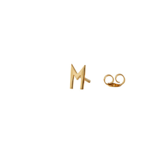 Design Letters Ohrstecker Buchstabe M Gold