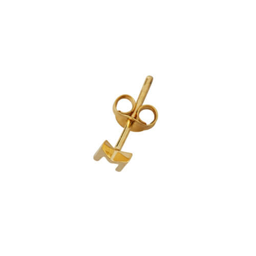 Design Letters Ohrstecker Buchstabe Z Gold – 18K