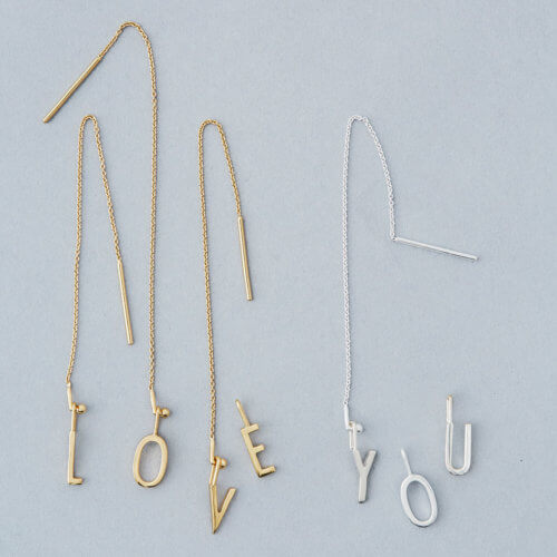 Design Letters Ohrschmuck Kette – 18K Gold