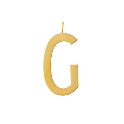 Design Letters – Buchstabe G (30 mm) – 18K Gold