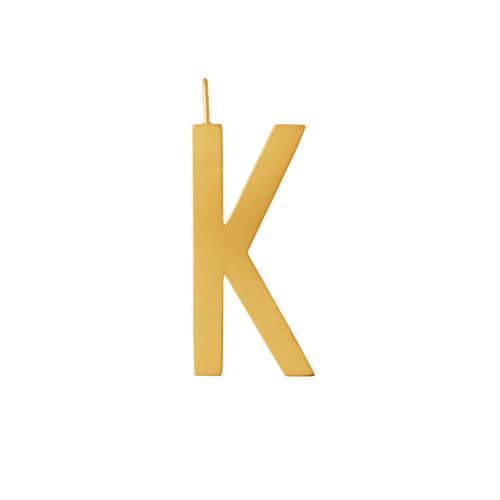 Design Letters – Buchstabe K (30 mm) – 18K Gold