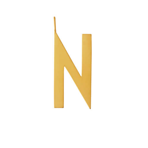Design Letters – Buchstabe N (30 mm) – 18K Gold