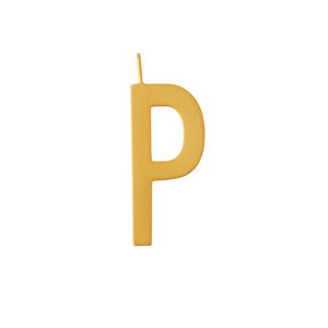 Design Letters – Buchstabe P (30 mm) – 18K Gold