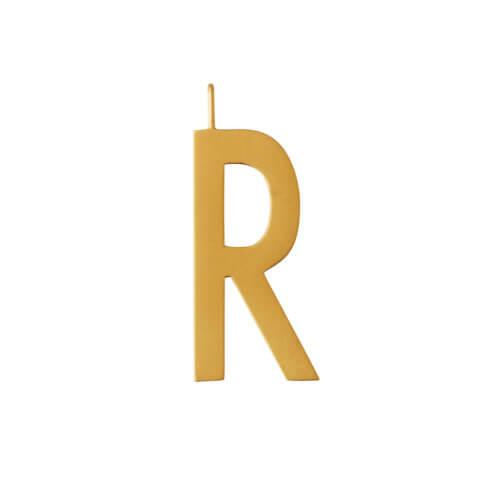 Design Letters – Buchstabe R (30 mm) – 18K Gold