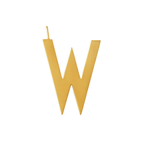 Design Letters – Buchstabe W (30 mm) – 18K Gold