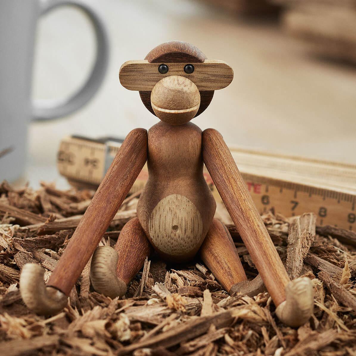 Kay Bojesen Holzfigur Affe Teak Mini H 10 X B 9 X T Ca