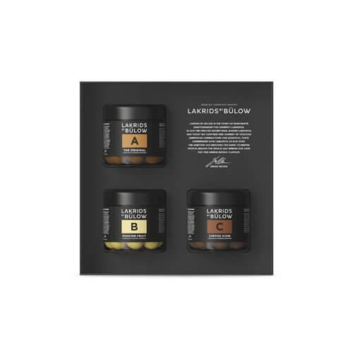 Lakrids Black Box 3 x SMALL A, B & C – 375 g
