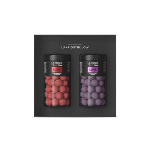 Lakrids LOVE Black Box Strawberry Regular & Cranberry Regular – 530 g