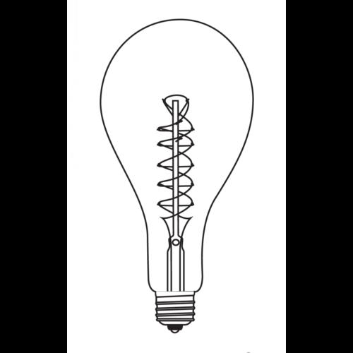 OPJET Paris Glühbirne OVAL Edison Style Zick-Zack