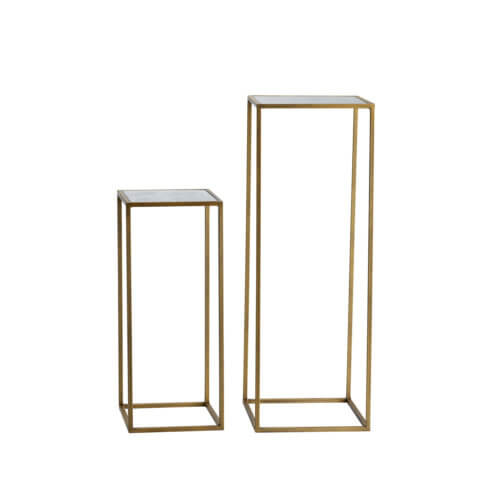 Tine K Home 2er Set Beistelltische Metall Honey Gold