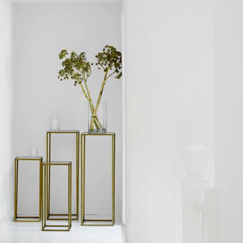 Tine K Home 2er Set Beistelltische Metall Honey Gold