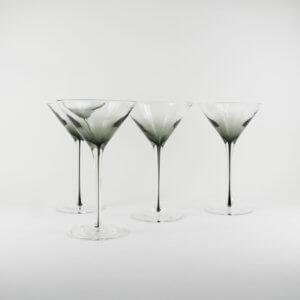 Broste Copenhagen 4er Set Martiniglas SMOKE – ca. 200 ml