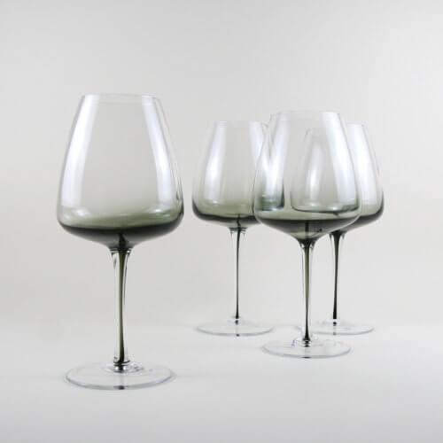 Broste Copenhagen 4er Set Rotweinglas SMOKE – ca. 650 ml
