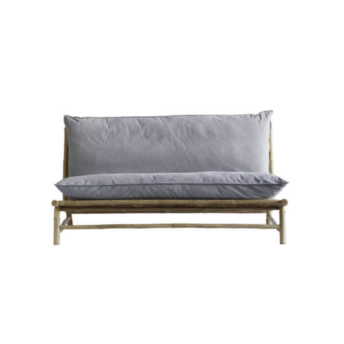 Tine K Home Bambus Lounge Couch Hellgrau