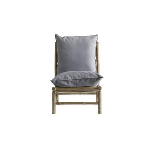 Tine K Home Bambus Lounge Stuhl Hellgrau