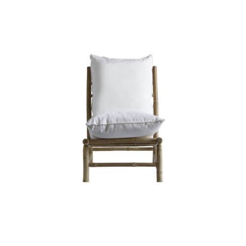 Tine K Home Bambus Lounge Stuhl Weiß
