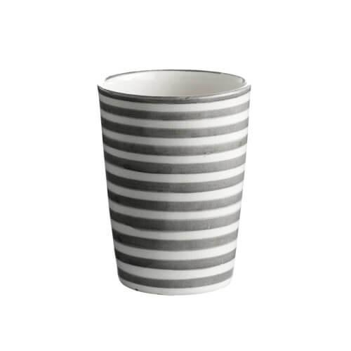 Tine K Home Becher Grau-Weiß