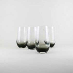 Broste Copenhagen 4er Set Trinkglas Groß SMOKE