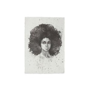 YAYA Poster A5 'Big hair don't care' – Hochformat