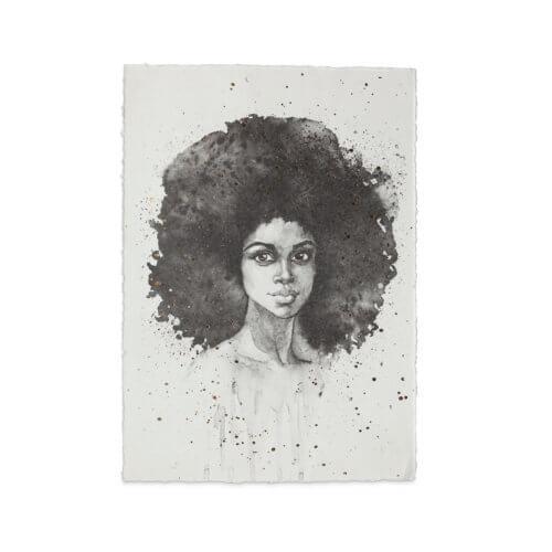YAYA Poster A3 'Big hair don't care' – Hochformat