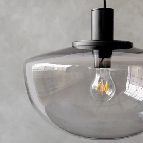MENU Hängelampe BANK Smoke-Glasschirm