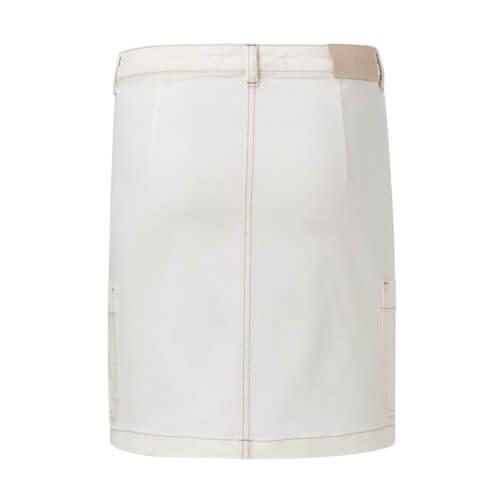 YAYA – Midi Worker Jeansrock mit Taschen – Weiß