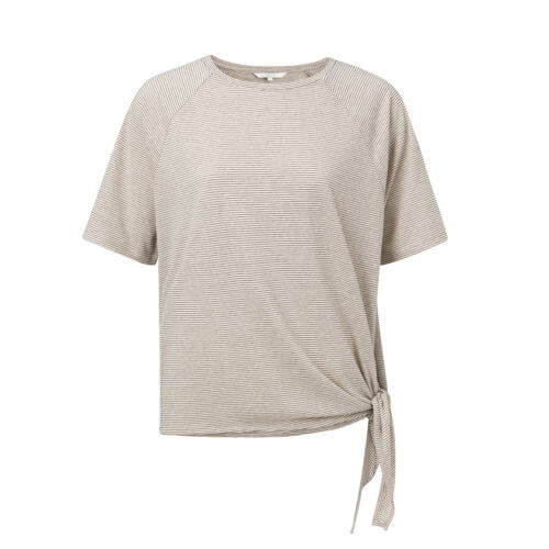 YAYA T-Shirt mit seitlichen Knoten – Cremé