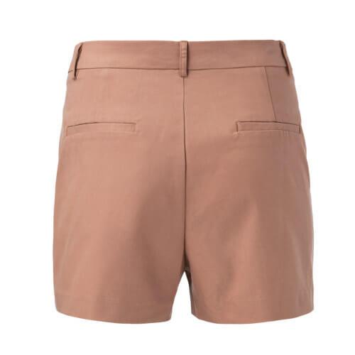 YAYA Bermuda-Shorts mit Seitentaschen – Caramel