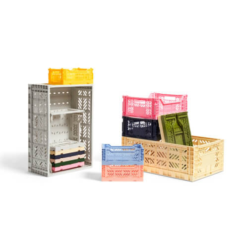 HAY Colour Crate Aufbewahrungsboxen – Klappboxen in verschiedenen Größen und Farben erhältlich