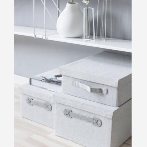 Storefactory Aufbewahrungsboxen Norrtuna Grau