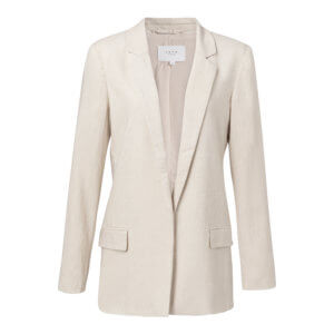 YAYA Blazer aus Leinen-Mix – Light Sand