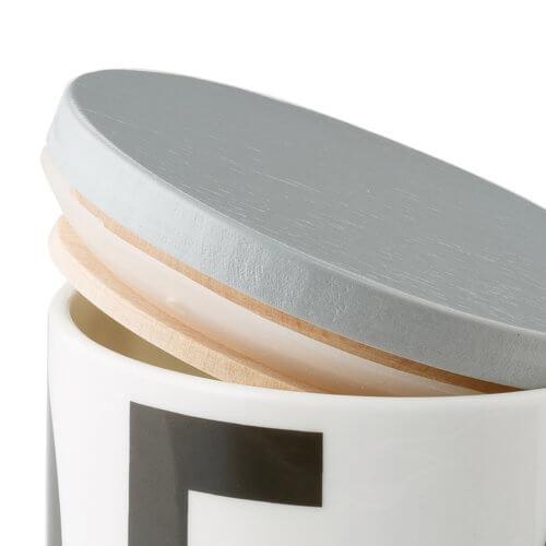 Design Letters Holzdeckel für Becher A-Z – Grau