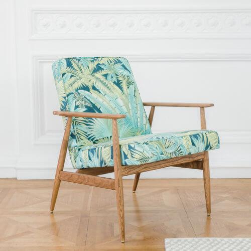 366 FOX Lounge Sessel – Kollektion Deco, Farbe Jungle Turquaise