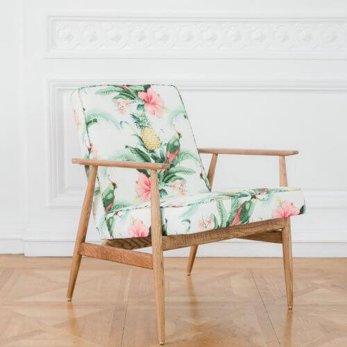 366 FOX Lounge Sessel – Kollektion Deco, Farbe Pineapple White