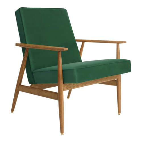 366 FOX Lounge Sessel – Kollektion Velvet, Farbe Green Grass Samt