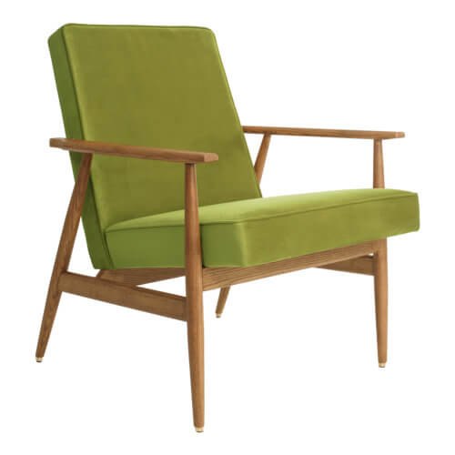 366 FOX Lounge Sessel – Kollektion Velvet, Farbe Light Green Samt
