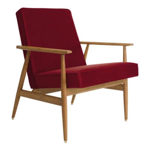 366 FOX Lounge Sessel – Kollektion Velvet, Farbe Merlot Samt